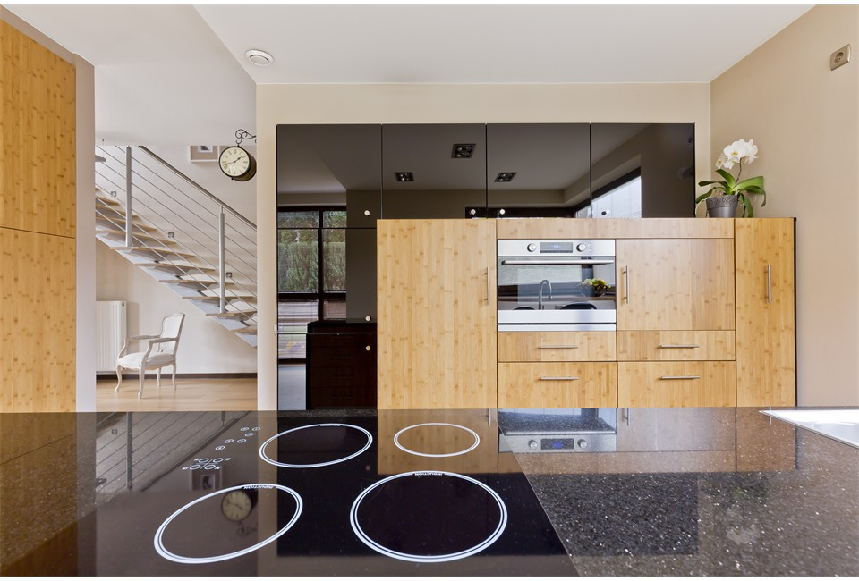kitchen-interior-open-to-the-staircase-P2CVVWS